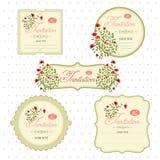 Tarjetas florales de la invitación para un evento Foto de archivo