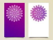 Tarjetas florales hermosas de la invitación stock de ilustración