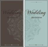 Tarjetas hermosas de la invitación de la boda Imagen de archivo
