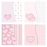 Tarjetas lindas de la tarjeta del día de San Valentín Foto de archivo libre de regalías