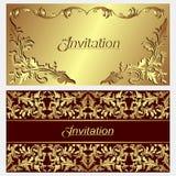 Tarjetas lujosas de la invitación. Foto de archivo libre de regalías