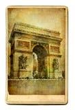 Tarjetas parisienses fotos de archivo libres de regalías
