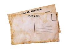 Tarjetas postales del viejo grunge Fotos de archivo