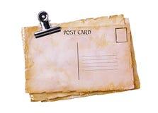 Tarjetas postales del viejo grunge y clip de dogo Foto de archivo