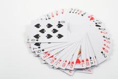 Tarjetas que juegan imagen de archivo libre de regalías