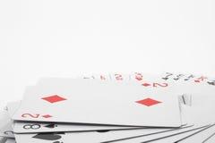 Tarjetas que juegan imágenes de archivo libres de regalías