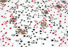 Tarjetas que juegan Fotografía de archivo