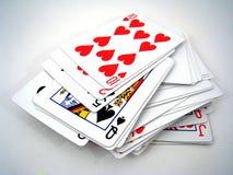 Tarjetas que juegan Fotos de archivo