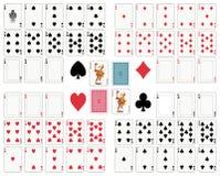 Tarjetas que juegan stock de ilustración