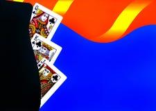 Tarjetas que juegan Foto de archivo libre de regalías