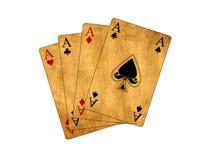 Tarjetas que juegan aisladas del póker Imagen de archivo libre de regalías