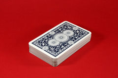 Tarjetas que juegan azul marino Fotografía de archivo libre de regalías