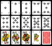 Tarjetas que juegan - clubs Imagenes de archivo