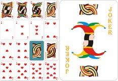 Tarjetas que juegan - corazones stock de ilustración