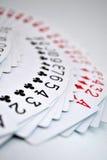 Tarjetas que juegan de la cubierta separada en el vector Imagen de archivo