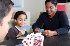 Tarjetas que juegan de la familia fotos de archivo libres de regalías
