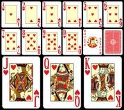 Tarjetas que juegan de la veintiuna [1] Imagen de archivo