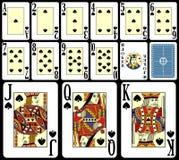 Tarjetas que juegan de la veintiuna [4] Imagen de archivo