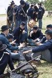 Tarjetas que juegan de los soldados de la unión fotografía de archivo