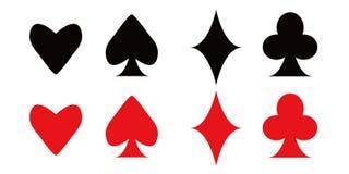 Tarjetas que juegan del póker Fotos de archivo
