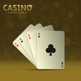Tarjetas que juegan del póker Imagen de archivo libre de regalías