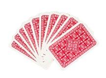 Tarjetas que juegan del póker en blanco Imagen de archivo