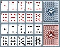 tarjetas que juegan del vector Fotos de archivo libres de regalías