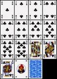 Tarjetas que juegan - el juego de los clubs Imagen de archivo libre de regalías