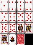 Tarjetas que juegan - el juego de los diamantes Fotos de archivo