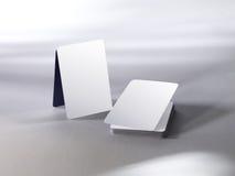 Tarjetas que juegan en blanco Fotografía de archivo