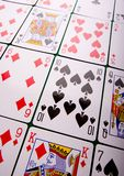 Tarjetas que juegan en casino Foto de archivo