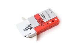 Tarjetas que juegan en rectángulo Imagen de archivo libre de regalías