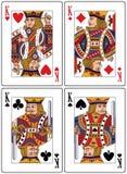 Tarjetas que juegan - reyes Imagen de archivo libre de regalías