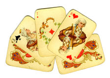 Tarjetas que juegan viejas Imagen de archivo