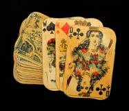 Tarjetas que juegan viejas Imagenes de archivo