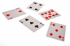 tarjetas que juegan y juego foto de archivo