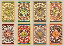 Tarjetas retras determinadas Imagen de archivo libre de regalías