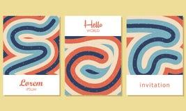 Tarjetas universales creativas con el fondo abstracto - vector ilustración del vector