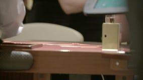 Tarjetas y microprocesadores almacen de metraje de vídeo