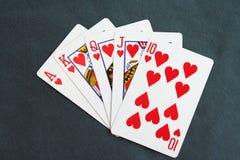Tarjetas y microprocesadores del póker Juego de póker Fotografía de archivo