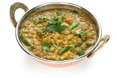 Tarka Dal, Curry der roten Linsen, indischer Teller Lizenzfreies Stockfoto