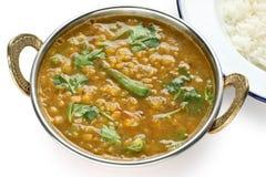 Tarka Dal, Curry der roten Linsen, indischer Teller Lizenzfreie Stockfotos