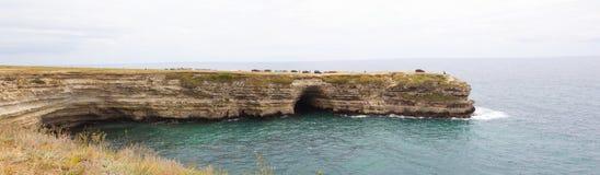 Tarkhankut, litorale del Mar Nero Fotografia Stock Libera da Diritti