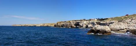 Tarkhankut, litorale del Mar Nero Fotografie Stock
