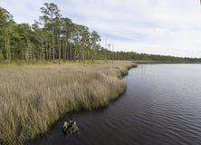 Tarkiln-Bayou an Perdido-Bucht in Florida lizenzfreies stockfoto