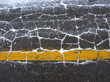Tarmac. Winter tarmac with only little snow Stock Photo