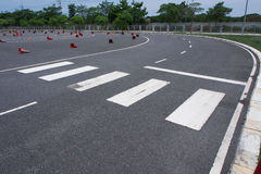 Tarmac practice track for learning how to ride Royalty Free Stock Photography