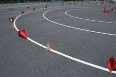Tarmac practice track for learning how to ride Royalty Free Stock Images