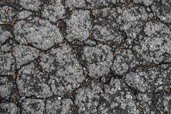 Tarmac road with big holes in Belgium Royalty Free Stock Image
