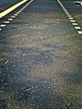 Tarmac road with pedestrian crossing Royalty Free Stock Photos